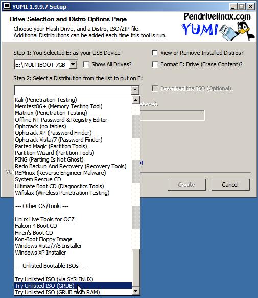 Creating a YUMI multi boot usb stick with Macrium Reflect (WinPE